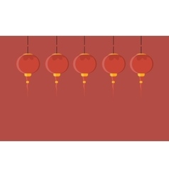 with chinese lantern vector image