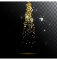 Abstract light background Magic with gold glitter vector image