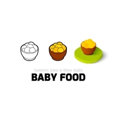 Baby food icon in different style vector image