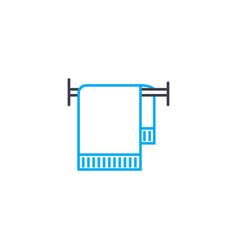 bath towel thin line stroke icon bath vector image