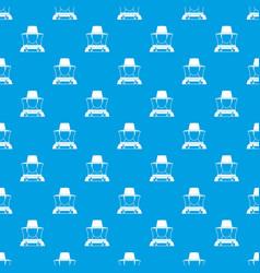 Beekeeper pattern seamless blue vector