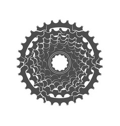 Bicycle monochrome sprocket vector