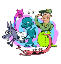 Bizarre creatures vector image