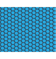 Black hexagon mesh on blue background design vector