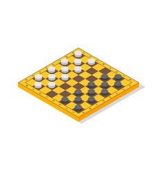board game checkers isometric view vector image