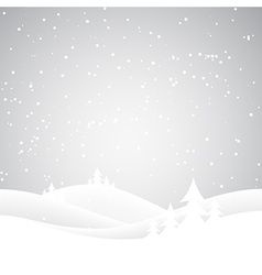 Christmas snow hills vector