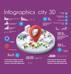 city isometric infographics vector image
