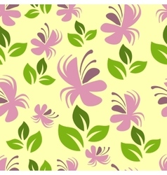 Colorful floral pattern vector image