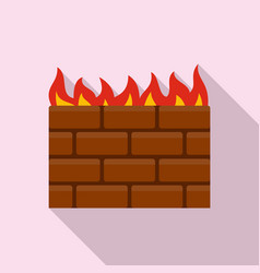 computer firewall icon flat style vector image