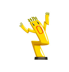 Dancing yellow inflatable tube man with waving vector