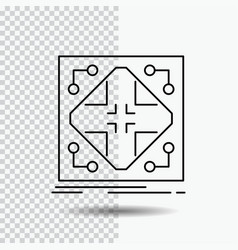Data infrastructure network matrix grid line icon vector