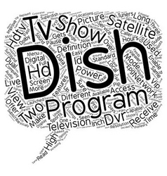 Dish hdtv satellite receiver 1 text background vector