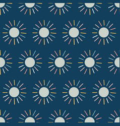 dots seamless pattern background blue sun vector image