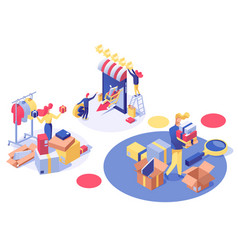 E-commerce and consumerism isometric vector