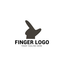 Finger logo flat design vector