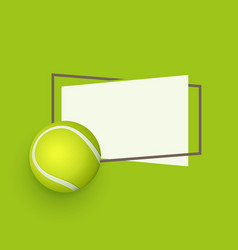 flat cartoon tennis ball banner vector image