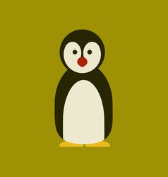 Flat icon stylish background emperor penguins vector