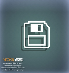 floppy disk icon symbol on the blue-green abstract vector image