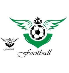 Football or soccer symbol vector image