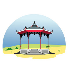 gazebo vector image
