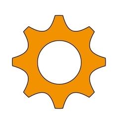 gear cog machine part design vector image