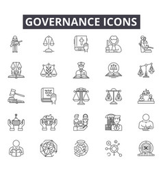 governance line icons for web and mobile design vector image