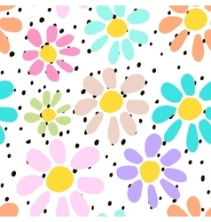 Hand drawn seamless pattern with colorful unusual vector image