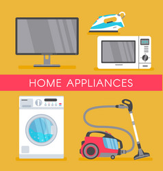 Home appliance sale poster banner vector