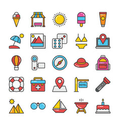 hotel and travel colored icons set 4 vector image