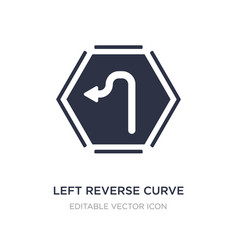 Left reverse curve icon on white background vector