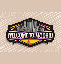 Logo for madrid vector