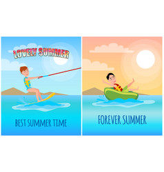 lovely summer time colorful vector image
