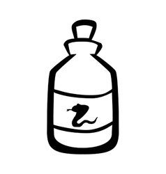 Medical snake poison bottle icon vector