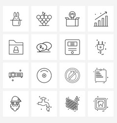 Modern line 16 simple line icons medical vector