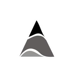 Modern symbol solution letter a vector