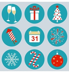 New Years icons vector image