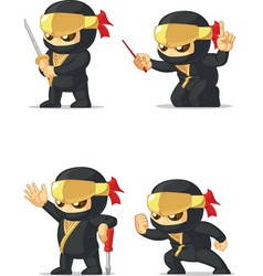 Ninja customizable mascot 16 vector