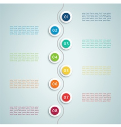 number steps inforgraphic 5 vector image