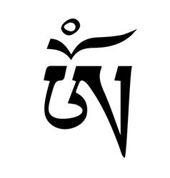 om tibetan tattoo symbol design - ready for print vector image