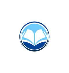 open book knowledge education logo vector image