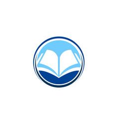 Open book knowledge education logo vector
