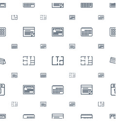 Plan icons pattern seamless white background vector
