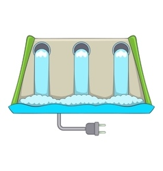 Power station icon cartoon style vector