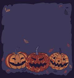 pumpkin inktober vector image