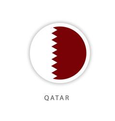 Qatar circle flag template design vector