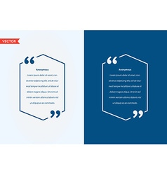 Quote Template Bubble Template Quote Set Trendy vector image