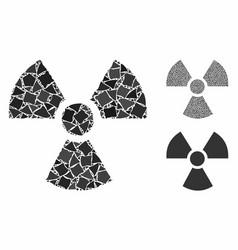 Radioactivity mosaic icon raggy elements vector