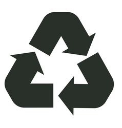 recycle icon on white background recycle sign vector image