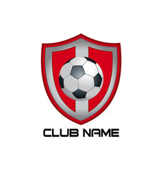 red football emblem vector image