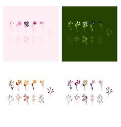 Set of elegant floral elements for your design vector